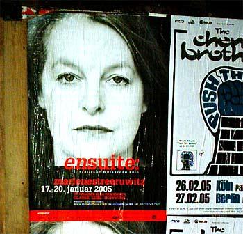 Plakat in Köln mit Marlene Streeruwitz